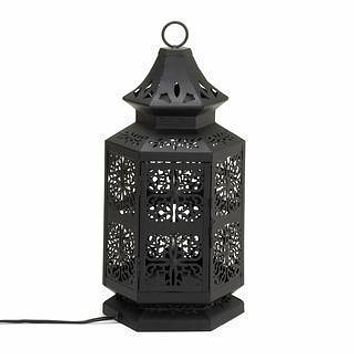 Large Black Moroccan Tower Lamp - Misc Gifts