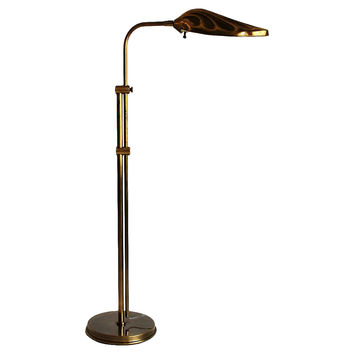 Brass Shell Pharmacy Floor Lamp