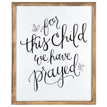 For This Child Framed Metal Wall Decor | Hobby Lobby | 1294727