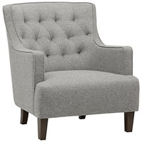 "Stone & Beam Decatur Modern Tufted Accent Chair, 31""W, Silver"