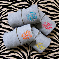Monogrammed Sweatshirt with Script Monogram