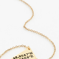 ModCloth French No Ordinary Coordinates Necklace in Paris