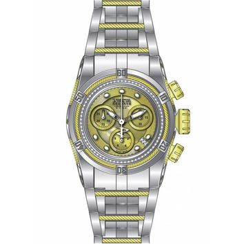 Invicta 15451 Women's Bolt Reserve Chronograph MOP Gold Dial Two Tone Steel Dive Watch