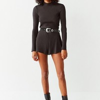Out From Under Felicity Cozy Ribbed Open Back Romper | Urban Outfitters