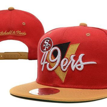 PEAPON San Francisco 49ers Snapback NFL Football Cap M&N