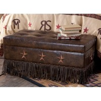 Barbwire And Star Storage Trunk