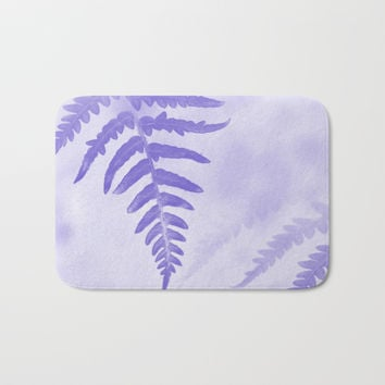 Fern Leaves In Violet Bath Mat by byjwp