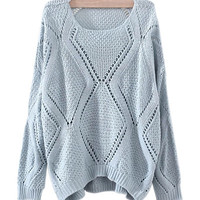 Light Blue Slouchy Knit Sweater
