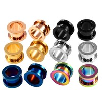 1Pcs Stainless Steel Ear Plugs - Tunnel Expander Gauges (Size: 3mm-20mm)