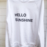 Hello Sunshine Raglan Sweatshirt
