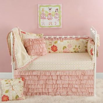 Rose Garden Crib Bedding by Doodlefish, Crib Bedding Sets, Bedding for Girls