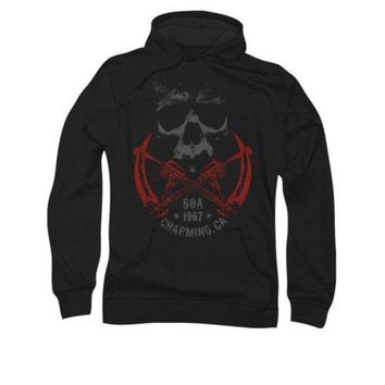 Sons Of Anarchy Soa Cross Guns Licensed Adult Pullover Hoodie