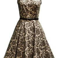 Glamorous Brown Print Tea Dress