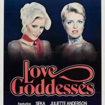 Love Goddesses Movie poster Metal Sign Wall Art 8in x 12in