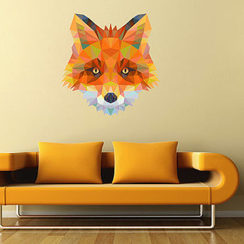 kcik89 Full Color Wall decal Fox abstract geometric living room bedroom children's room