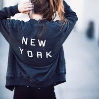 ELANA NEW YORK BOMBER JACKET