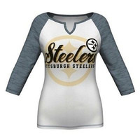 Pittsburgh Steelers Majestic Women's Victory Is Sweet IV 3/4 Raglan Size L