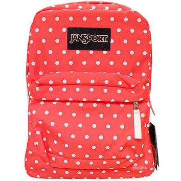 JanSport Classic SUPERBREAK® School BACKPACK - Tahitian Orange / White Dot