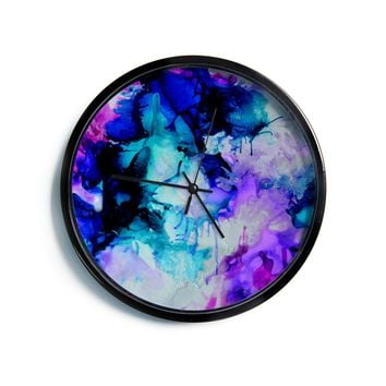 "Claire Day ""Lakia"" Blue Purple Modern Wall Clock"