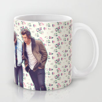 Floral 1D Mug by Valerie Hoffmann || One Direction