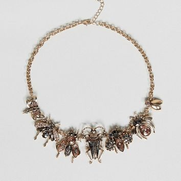 ALDO Embellished Bug Necklace at asos.com