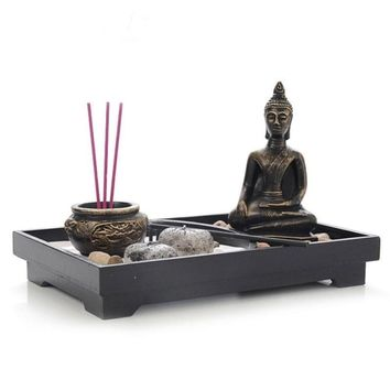 Buddha Candlestick Ornaments Wooden Candle Holder Home Furnishing Decoration Religious Activities