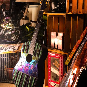"""In """"Fin"""" ity Stained Glass Guitar"""