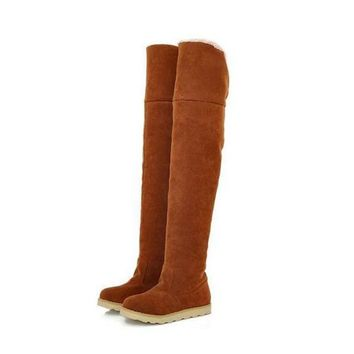 Winter Snow Female Boots Knee-High Boots