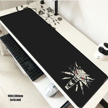witcher mouse pad 900x300mm pad to mouse long notbook computer mousepad Halloween Gift gaming padmouse gamer keyboard mouse mats