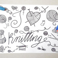 i love knitting coloring book to knit yarn instant download craft colouring to knit meditation zen printable print digital lasoffittadiste