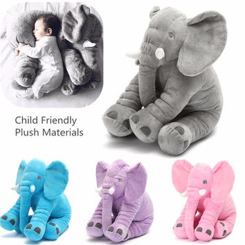 Fashion Creative Baby Children Long Nose Lovely Elephant Doll Pillow Soft Plush Stuff Toys Lumbar Pillow Kids Room Bed Decoration [8322976769]