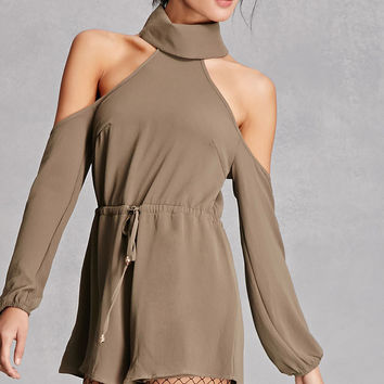 Reverse Open-Shoulder Romper