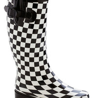 ModCloth Statement Chess for Success Rain Boot