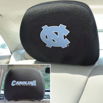 "UNC University of North Carolina head rest cover 10""x13"""