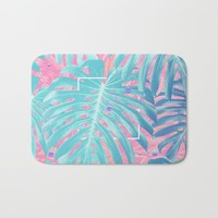 Monstera Gradient Bath Mat by lostanaw
