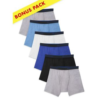 Boys' Cotton Mesh Breathable Boxer Briefs, 5+1 Bonus Pack - Walmart.com