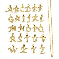 Small Letters Necklace Gold Color