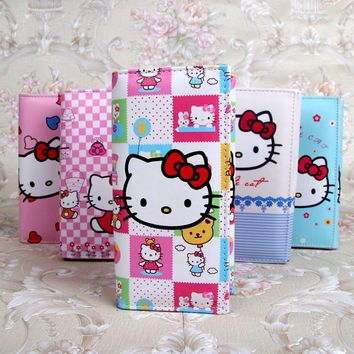 Cute Cartoon Hello Kitty Wallet Cat Bag Women Leather Wallets For Girls Clutch Purse Lady Party Wallet Card Holder Girls Gift