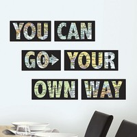 WallPops ''You Can Go Your Own Way'' Wall Decals