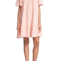 Rebecca Taylor Off the Shoulder Cotton Swing Dress | Nordstrom