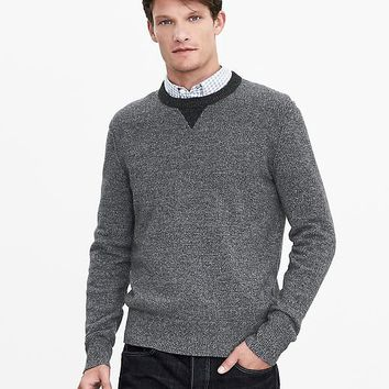 Banana Republic Mens Filpucci Italian Wool Baseball Sweater Pullover