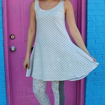 Triffle Dress - Dots Burnout by Noblu Clothing