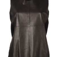 Allude leather front top
