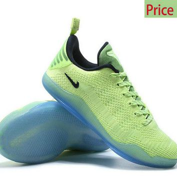 Spring Summer 2018 New Arrival Kobe 11 Elite Flyknit 2016 Christmas Flash Lime sneaker