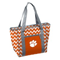 Logo Chair Clemson Tigers 30-Can Chevron Cooler Tote