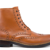 Goodyear Welted Boyle Boot - Burnished Tan