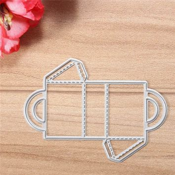 Gift Box Cutting template Metal Cutting Dies For Scrapbooking Practice Hands-on DIY Album Craft Dies Supplies Silver