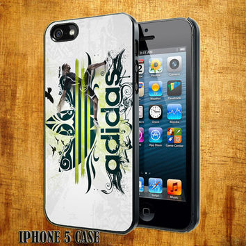 Adidas Green Logo Design On Hard Plastic Cover Case, IPhone 4,4S or IPhone 5 Case, Samsung Galaxy S2,S3 or S4 Case