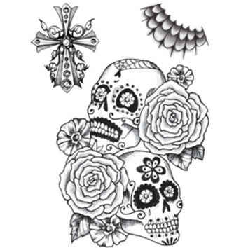 Tattoo Sales: Beautiful Calavera Sexy Day of the Dead Halloween Costume Temporary Tattoo - Buy Direct From The Source