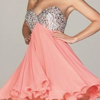 Sexy strapless Prom Dress in Sequin  from bebpillo
